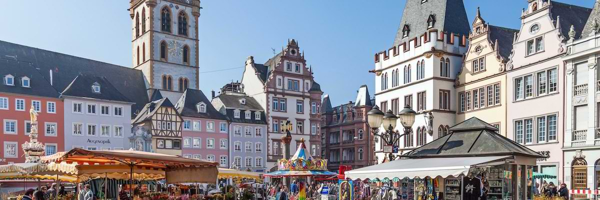 Picture shows the market place in Trier - a symbol for the insight into Germany which Relocation Information Service provides.